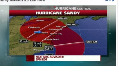 Track adjusted on Weather.com to center on Ocean City