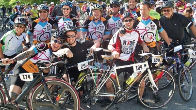 Bicyclists take on 140 miles in two days for Moveable Feast