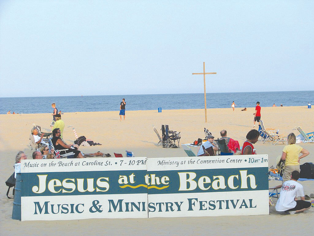 Jesus at the Beach Music and Ministry festival, July 29-31
