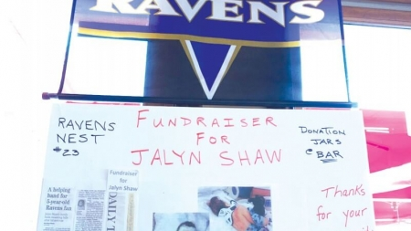 Ravens fans raise money for victim of hit-and-run