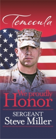Bdwk. banners  to honor military