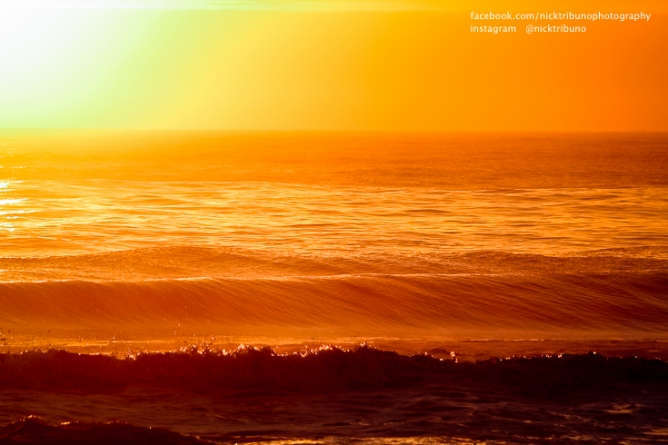 Perfect morning image for a wave rider