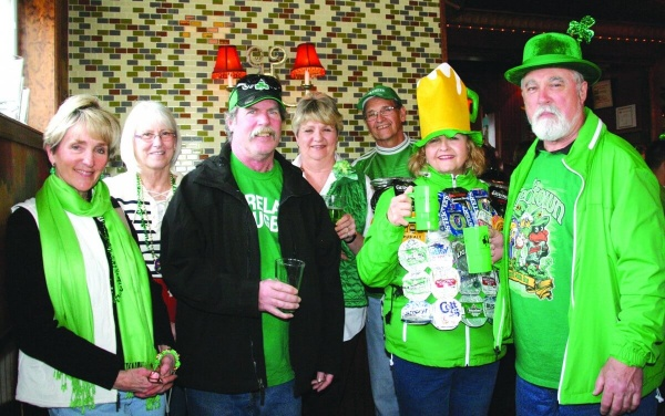 Participating in St. Patrick's Day festivities at BJ's on the Water during the last St. Patrick's Day event were Phyllis Jones, Dee Barnhill, Mimi Clough and Stephen, Agnes and Patrick Molloy.