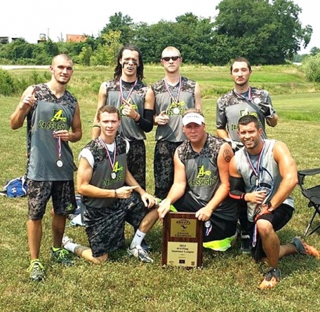Play cornhole and support local flag football squads