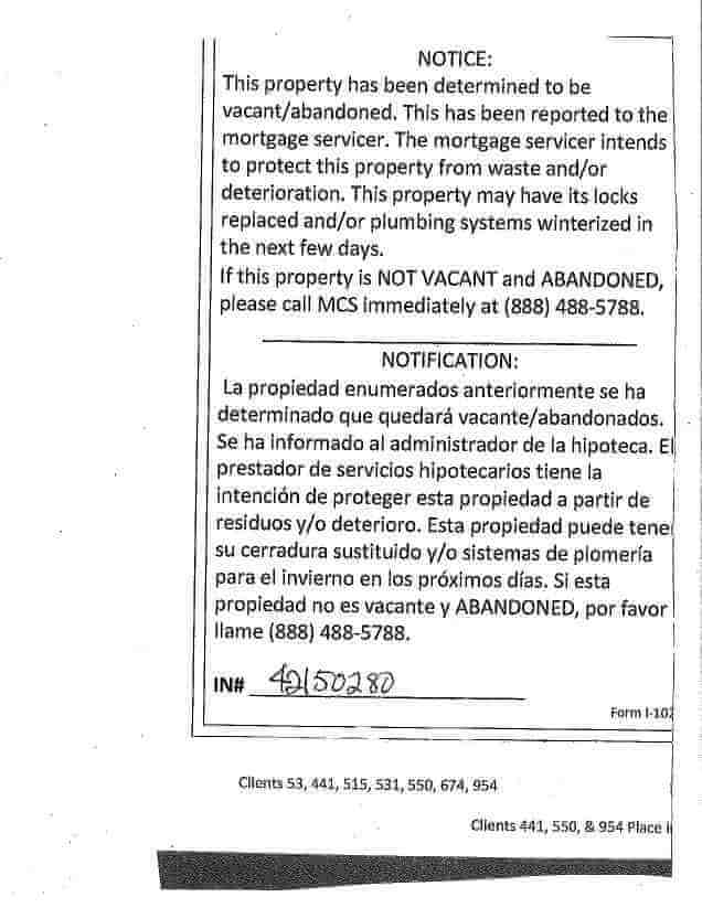 Pines troubled by foreclosure service stickers
