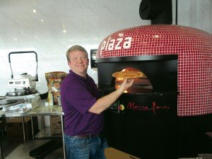 Brick oven pizza served at new Berlin's Piaza