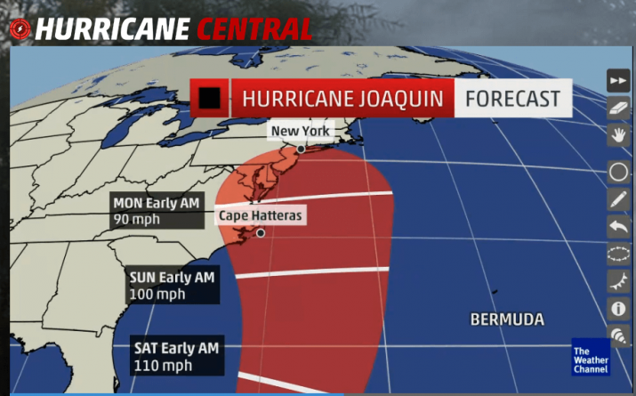 Hurricane Joaquin Update, Ocean City MD