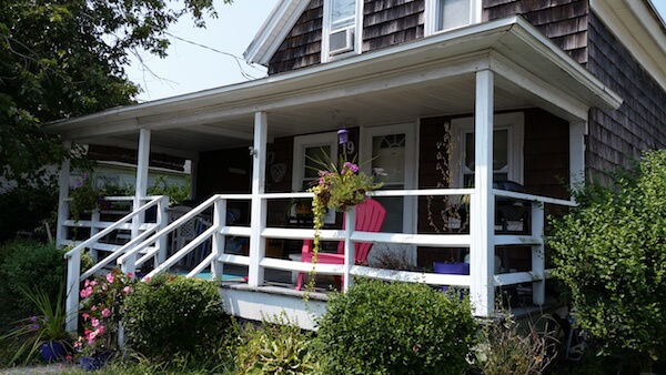 This photo was taken in the summer as part of a story about quaint summer cottages.