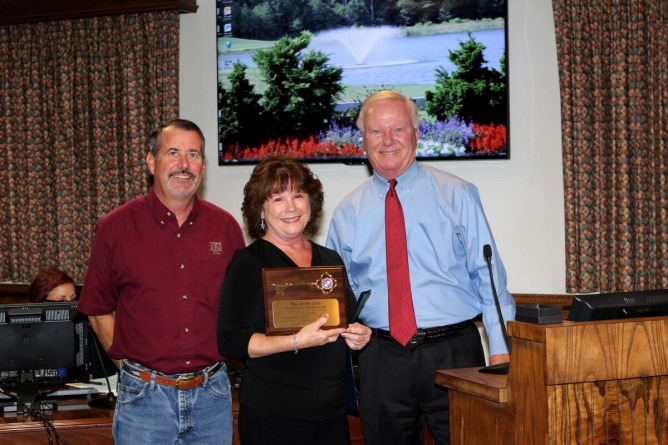 Town of Ocean City employee Barbara Scheleur retires