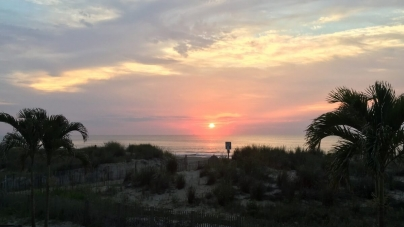 Summer sunrises over Ocean City