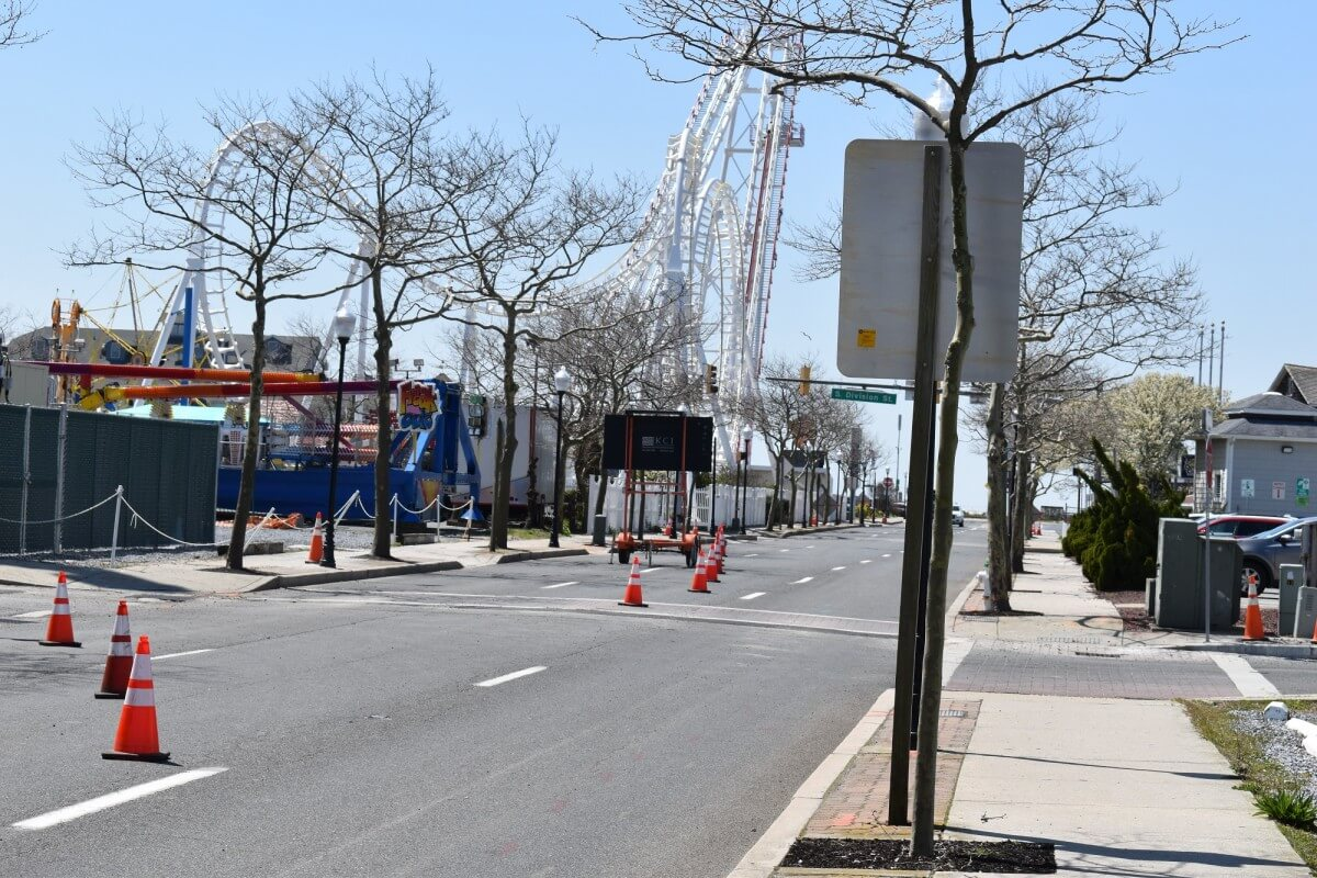 Downtown Ocean City construction