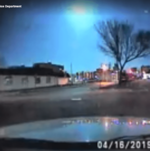 Ocean City Police Officer Captures Meteor on Dash Cam