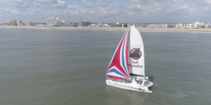 Learn to sail, or just relax and enjoy the waves, on the Alyosha catamaran