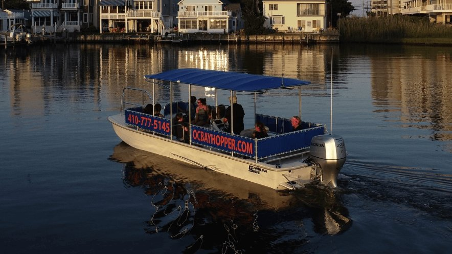 bay hopper at sunset
