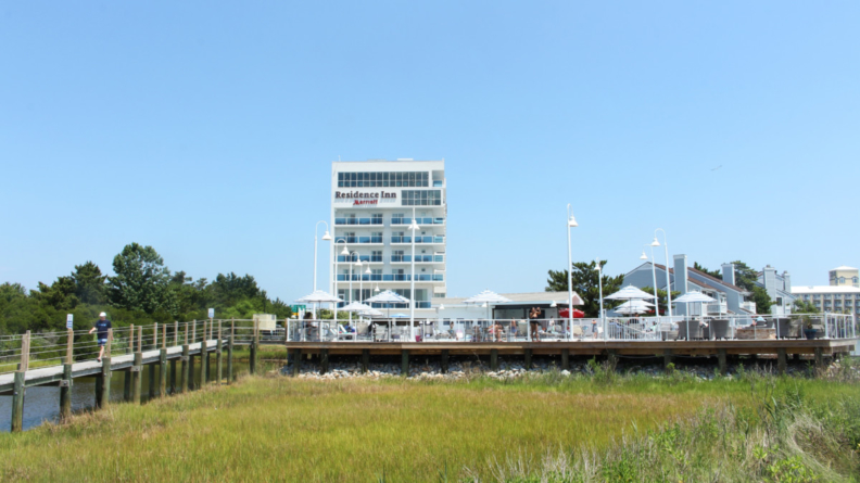 Turn right after Route 90, Find Paradise on the Bay at the Residence Inn