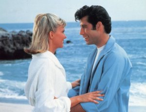 Olivia Newton-John & John Travolta in the movie, Grease