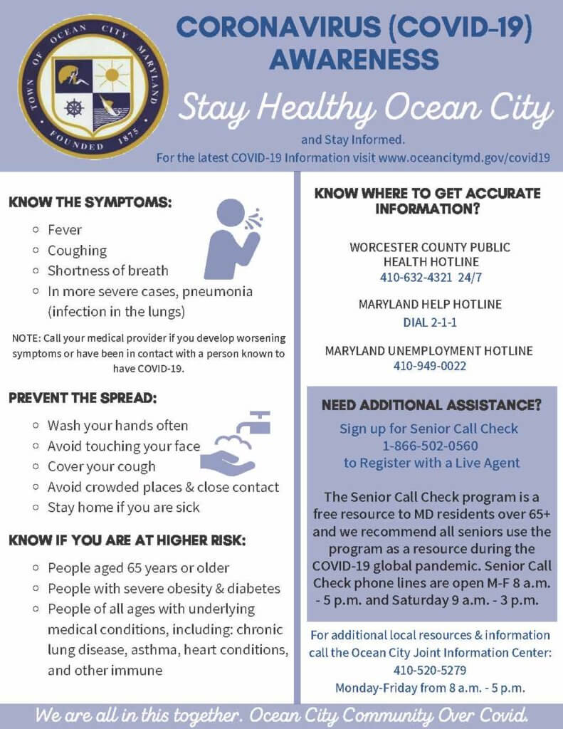 Ocean City Maryland Covid 19 Official Updates Page Oceancity Com