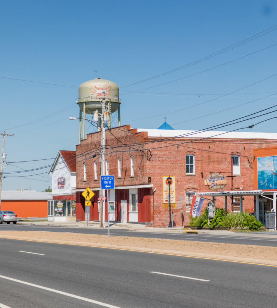 "Main Street Crisfield, Known as ""The Strip"""