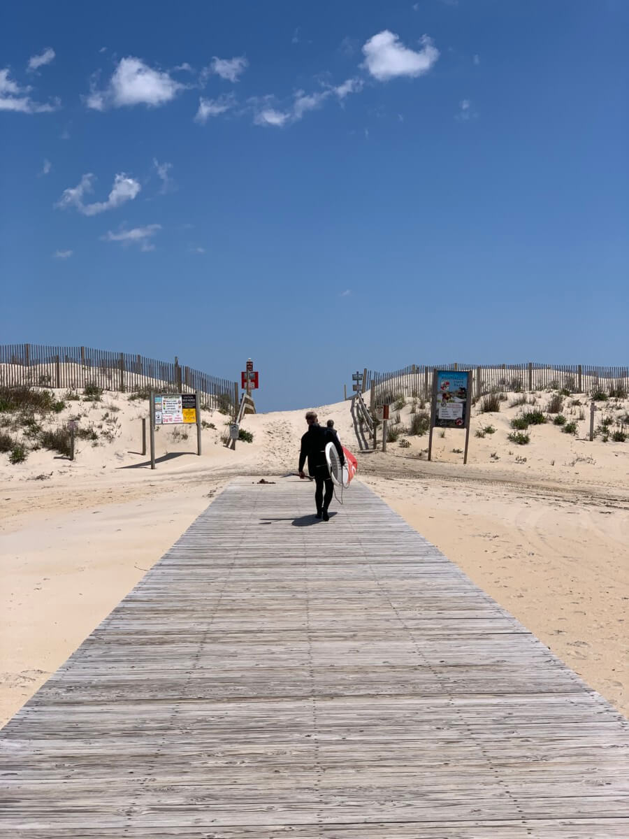 Assateague Island is a great place for a First Day Hike - or surfing
