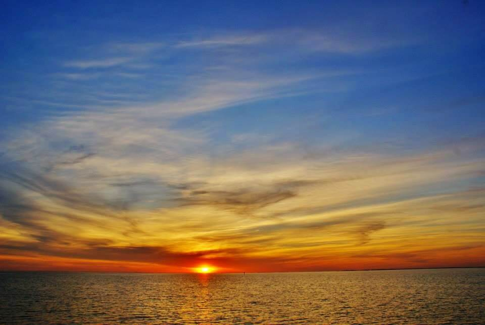 Sunset over the Chesapeake taken from Crisfield